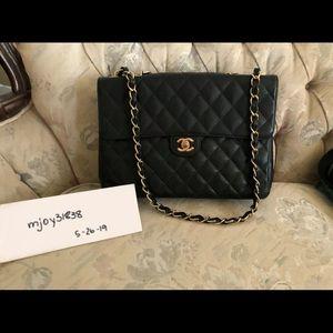 9b2c3b41b65b Authentic Vintage Chanel Single Flap Bag Large